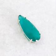Pingente de Prata 925 Gota Jade Verde