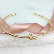 Pulseira Bracelete Nó Banho Ouro 18k