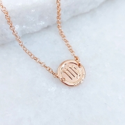 Pulseira de Prata 925 Signo Virgem Banho Ouro Rose