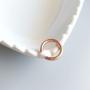 Piercing Fake Tubo Banho Ouro Rose