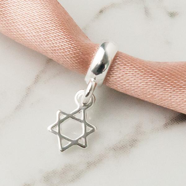 Berloque de Prata 925 Estrela de Davi