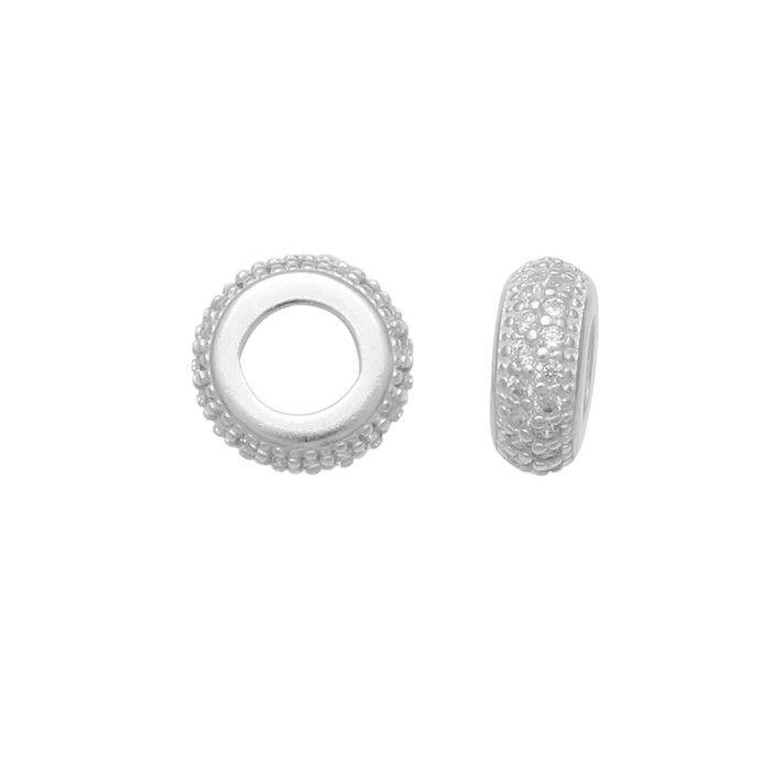Berloque de Prata 925 separador com zirconias