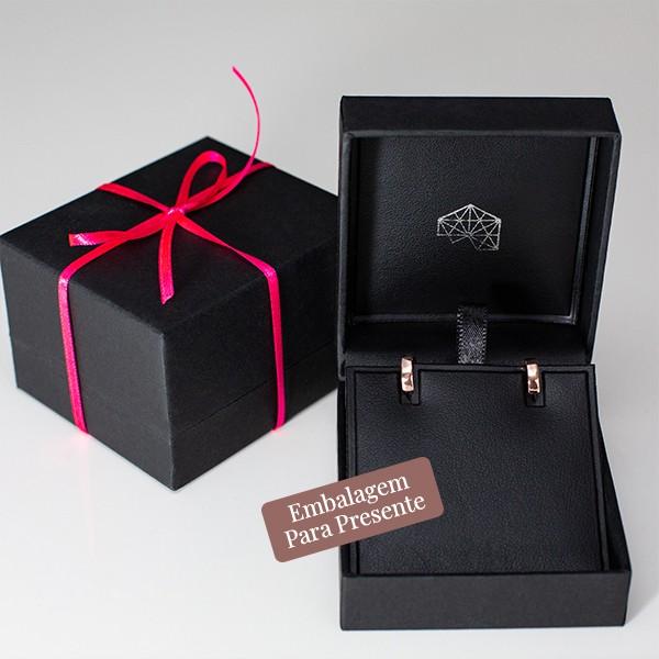 Brinco de Argola de Prata 10mm Banho Ouro Rose