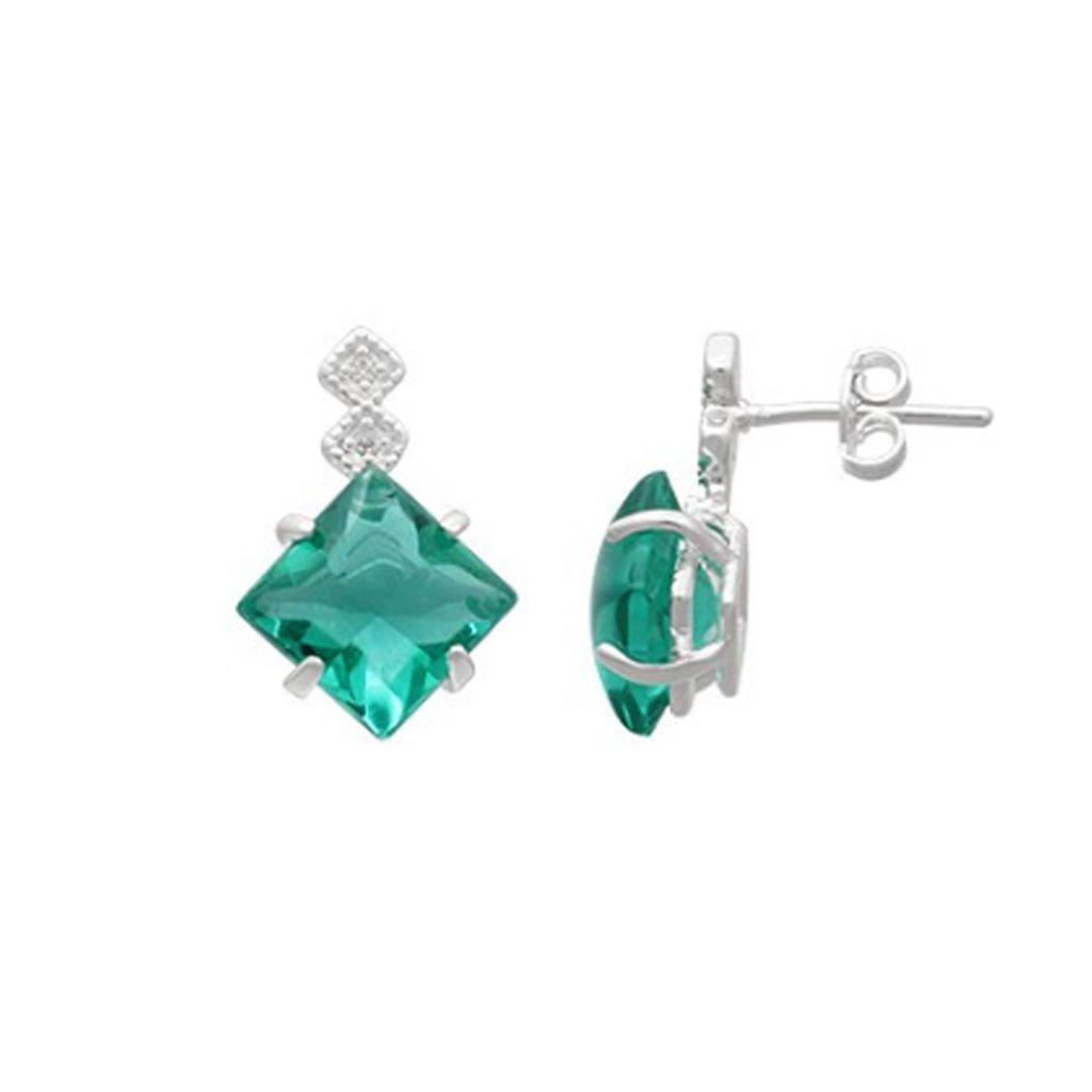 Brinco de Prata 925 Jade Verde