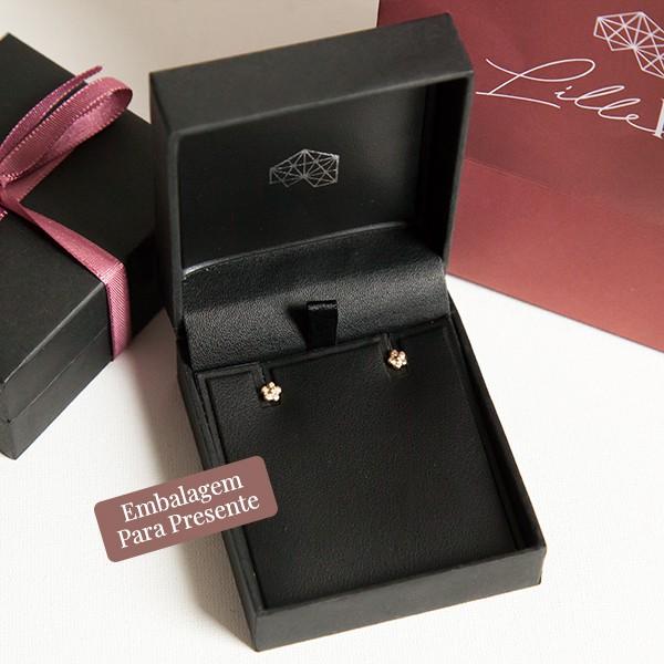 Brinco de Prata 925 Mini Flor Banho Ouro 18K