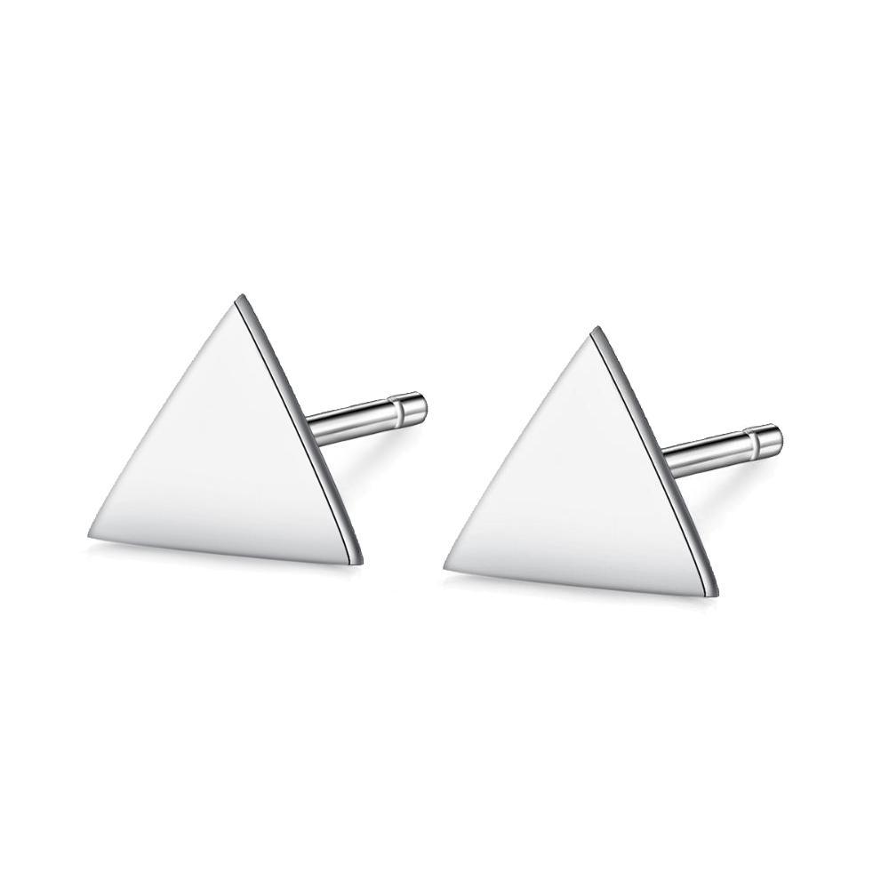 Brinco de Prata 925 Triângulo Pequeno
