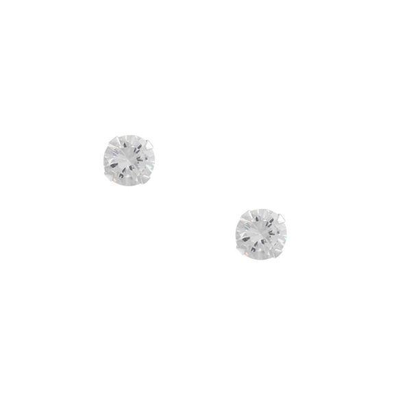 Brinco Solitário Zircônia 0,4cm - Prata 925