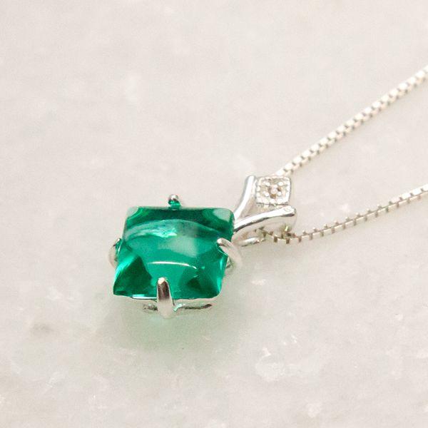 Colar de Prata 925 Jade Verde