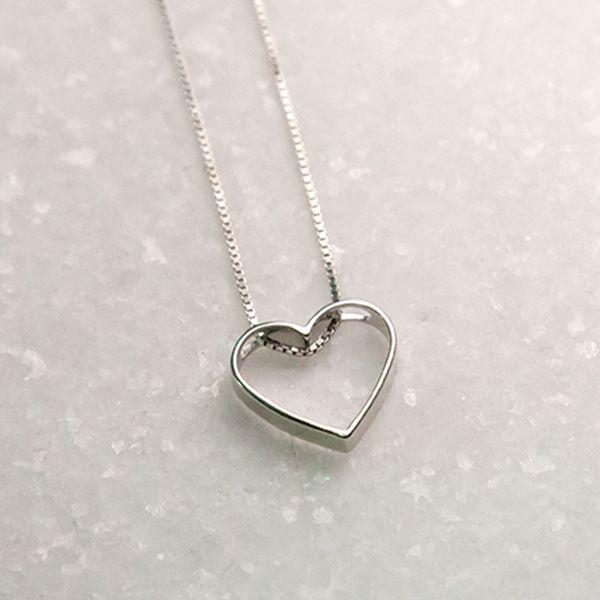 Colar de Prata 925 Coração Vazado M