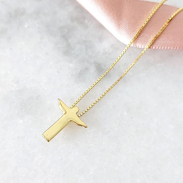 Colar de Prata 925 Cristo Banho Ouro 18k