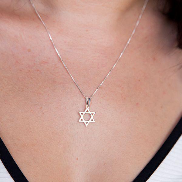 Colar de Prata 925 Estrela de Davi