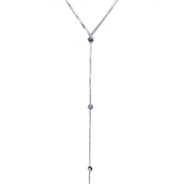 Colar Prata 925 Gravatinha Tiffany Lilás