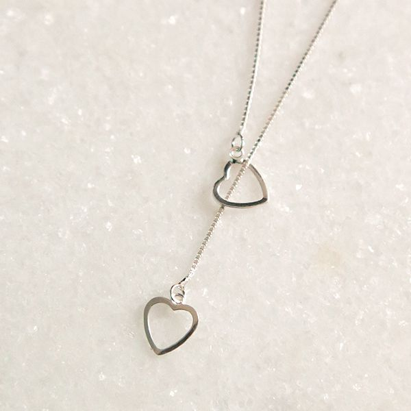 Colar Prata 925 Gravatinha Coração