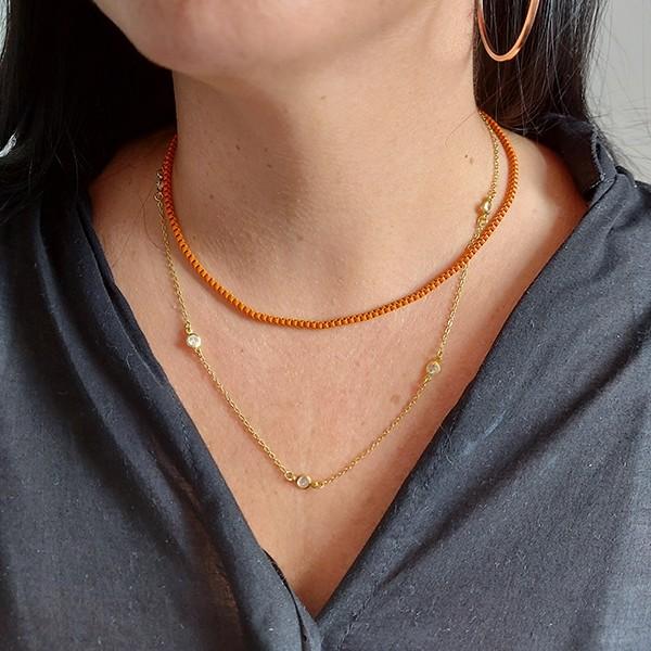 Corrente Veneziana 40cm Color Laranja
