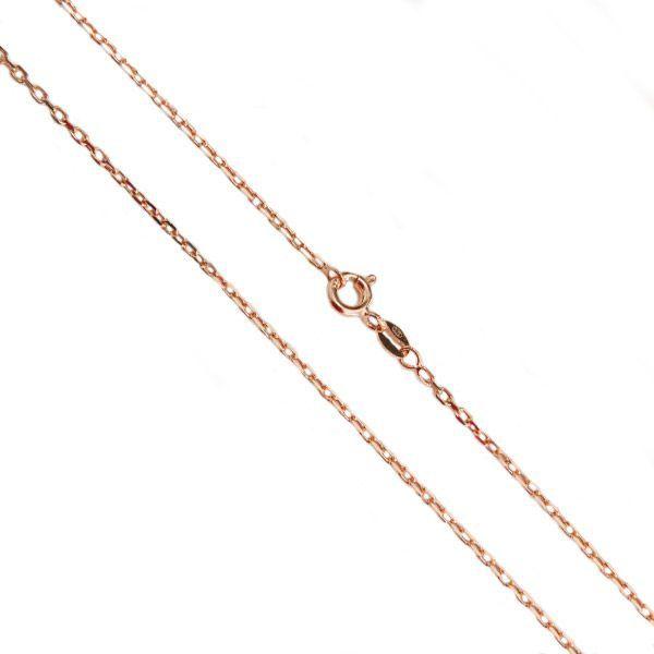 Corrente Cartier de Prata 925 de 45cm Banho em Ouro Rose