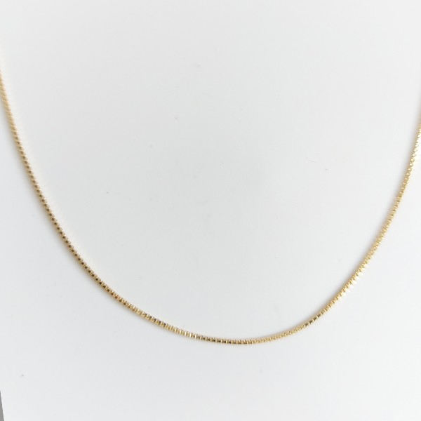 Corrente Veneziana 45cm Banho Ouro 18K