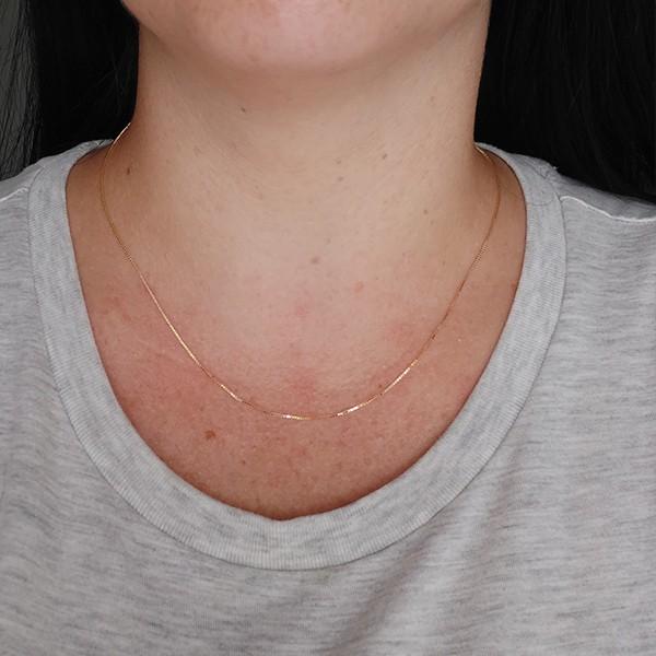 Corrente Veneziana de Prata 925 45cm Banho Ouro 18K