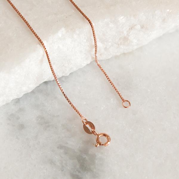 Corrente Veneziana de Prata 925 50cm Banho Ouro Rose