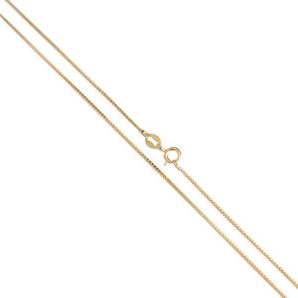 Corrente Veneziana de Prata 925 com 45cm Banho Ouro 18K