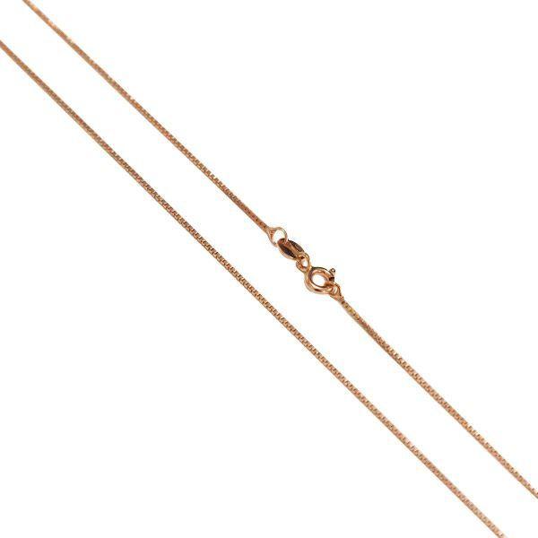 Corrente Veneziana de Prata 925 com 45cm Banho Ouro Rosê