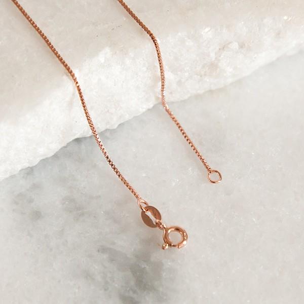 Corrente Veneziana de Prata 925 45cm Banho Ouro Rose
