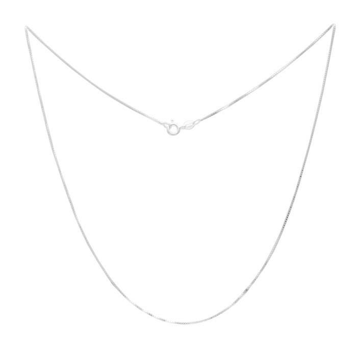 Corrente Veneziana de Prata 925 com 45cm Banho Ródio Branco