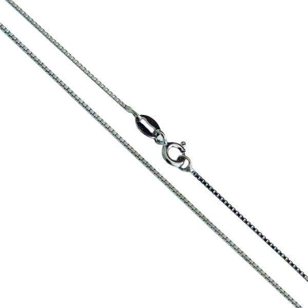 Corrente Veneziana de Prata 925 45cm Banho Ródio Negro