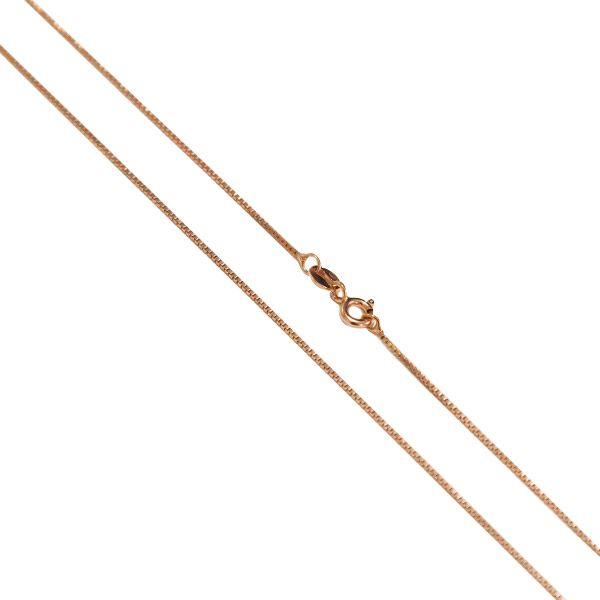 Corrente Veneziana de Prata 925 70cm Banho Ouro Rose