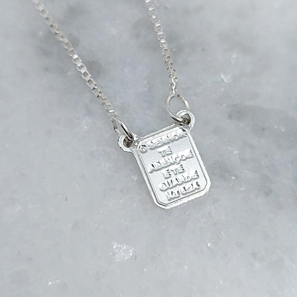 Escapulário de Prata 925 Mini Nossa Senhora Aparecida e Sagrado Coração de Jesus