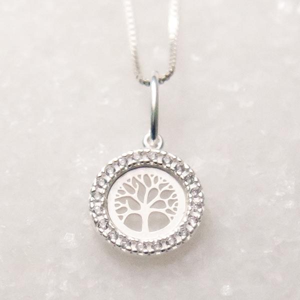 Pingente de Prata 925 Árvore da Vida