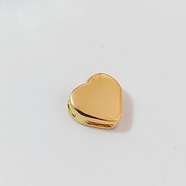 Pingente de Prata 925 Coração Banho Ouro 18k
