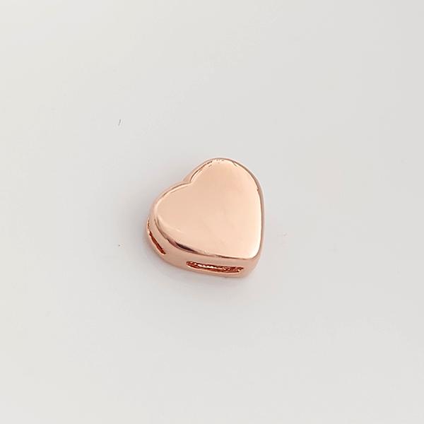 Pingente de Prata 925 Coração Banho Ouro Rose