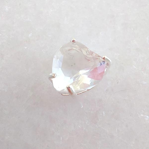 Pingente de Prata 925 Coração Cristal