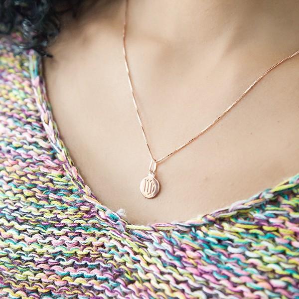 Pingente de Prata 925 Signo Virgem Banho Ouro Rose