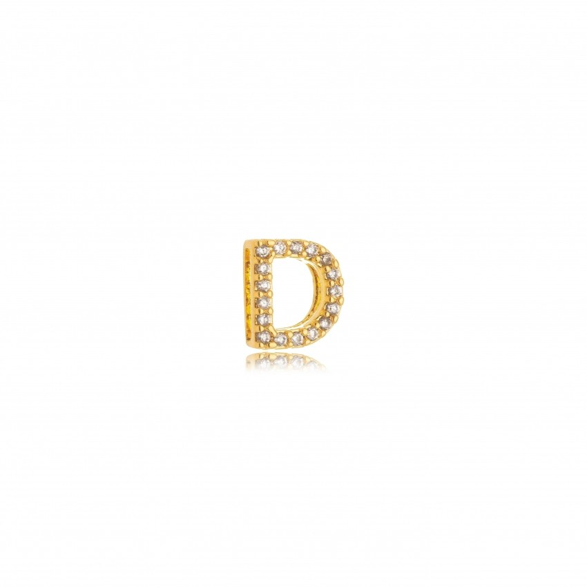Pingente Letra D Banho Ouro 18k