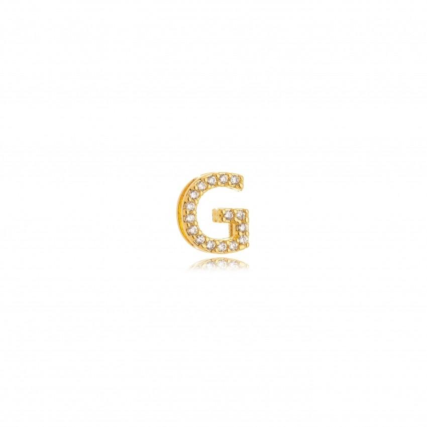 Pingente Letra G Banho Ouro 18k