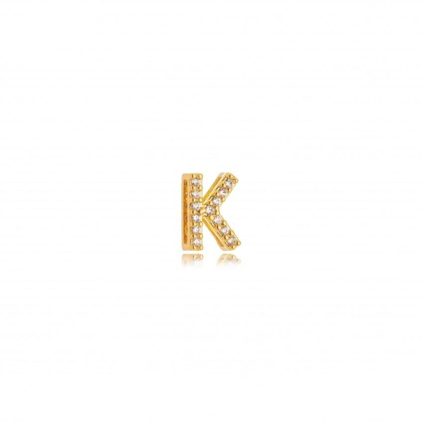 Pingente Letra K Banho Ouro 18k