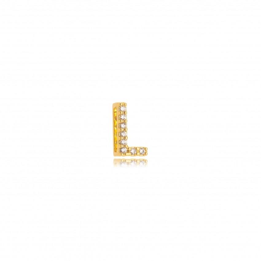 Pingente Letra L Banho Ouro 18k