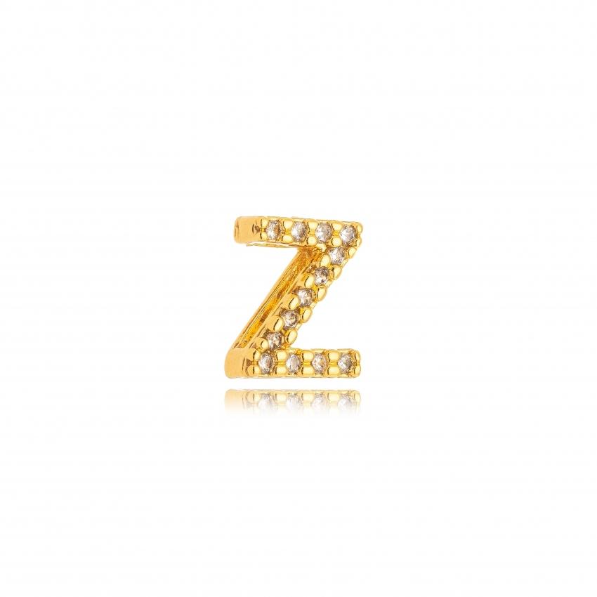 Pingente Letra Z Banho Ouro 18k