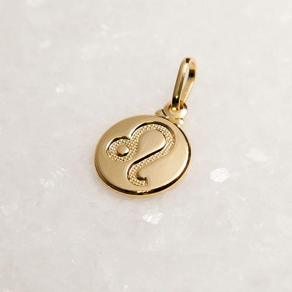 Pingente de Prata 925 Signo Leão Banho em Ouro 18K