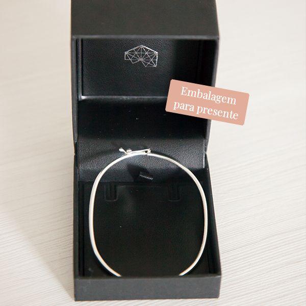 Pulseira de Prata 925 Bracelete 1mm Aro Arredondado