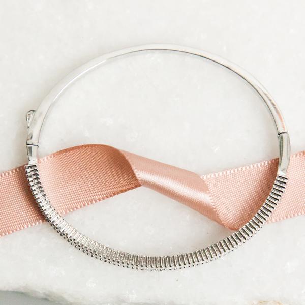 Pulseira Bracelete Cristal Banho Ródio Branco