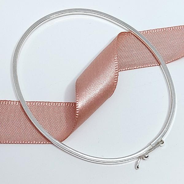 Pulseira de Prata 925 Bracelete 1mm Aro Quadrado