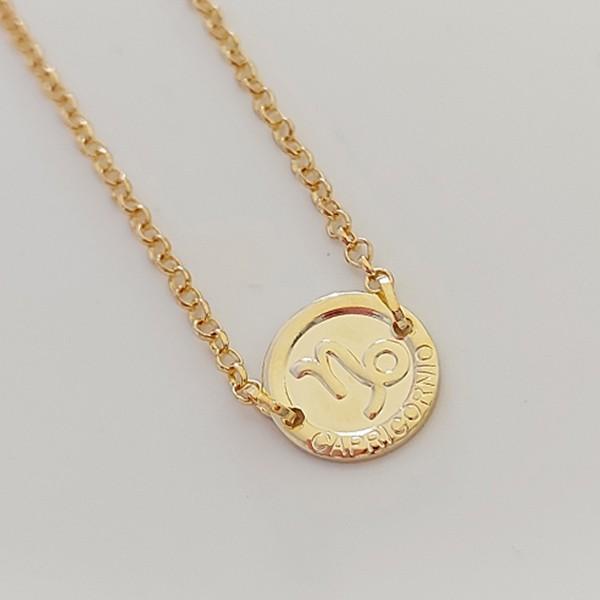 Pulseira de Prata 925 Signo Capricórnio Banho Ouro 18K
