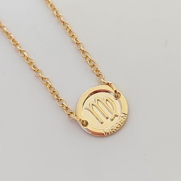 Pulseira de Prata 925 Signo Virgem Banho Ouro 18k