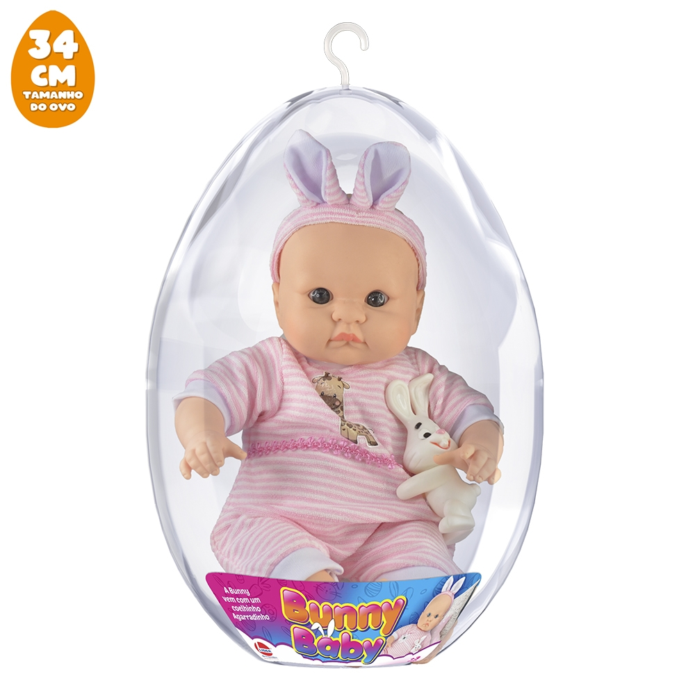 Boneca Bunny Baby no Ovo Grande