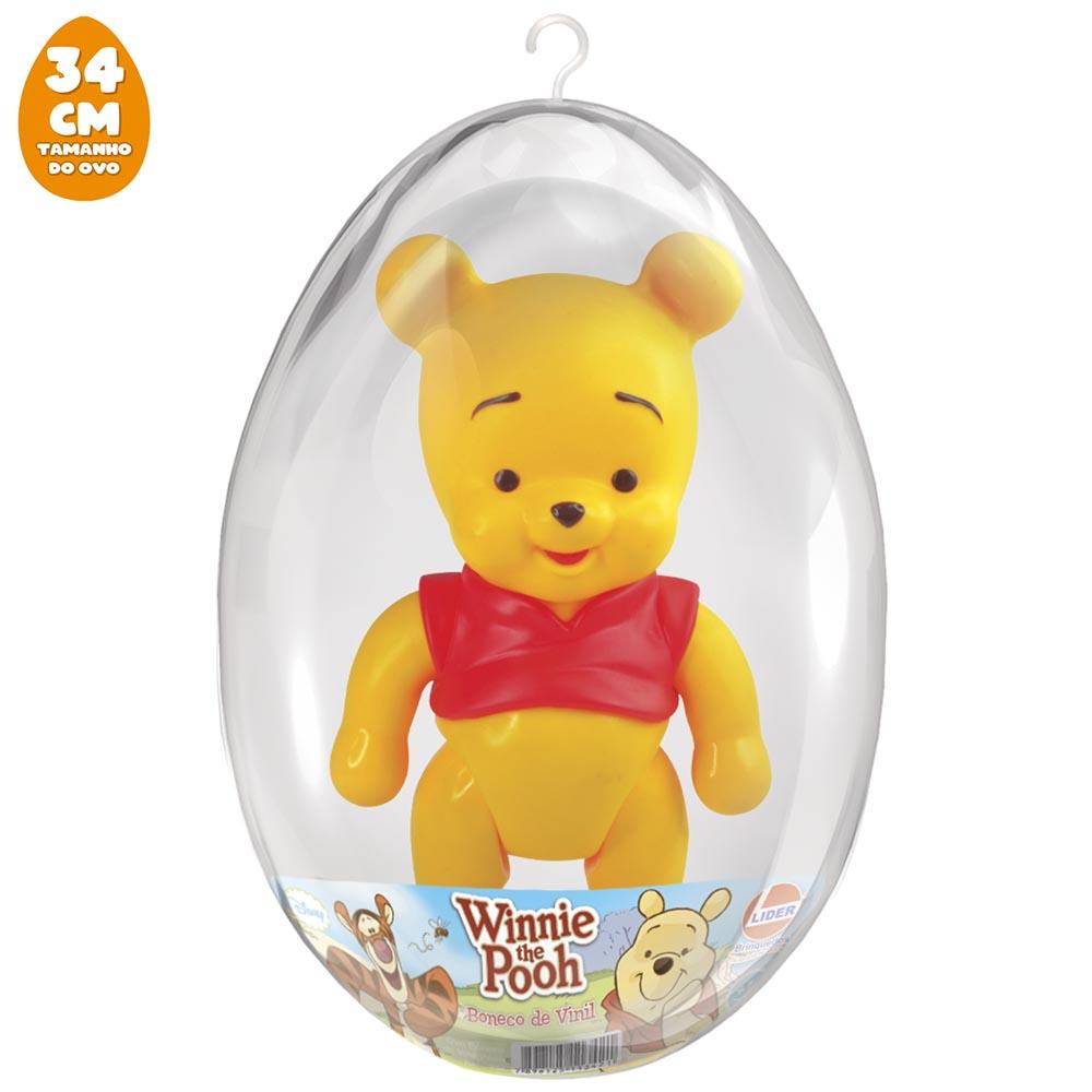 Boneco Pooh no Ovo Grande