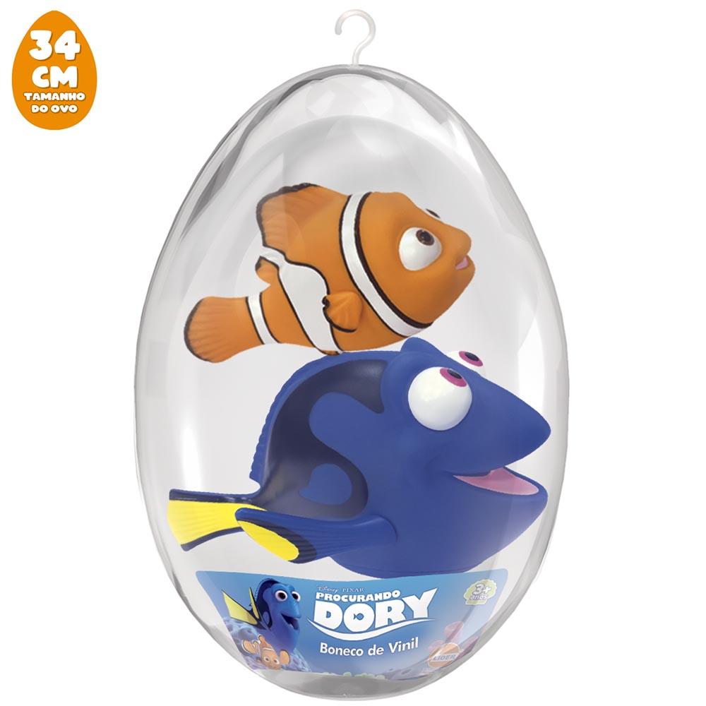 Bonecos Dory e Nemo no Ovo Grande