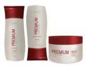 Kit Reconstrutor  Shampoo 200 ml , Condicionador 200 ml , Mascara  250 gr Pro Trigo Profissional Dwell'x