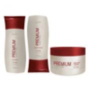 Kit Reconstrutor  Shampoo 250 ml , Condicionador 200 ml , Mascara  250 gr Pro Trigo Profissional Dwell'x